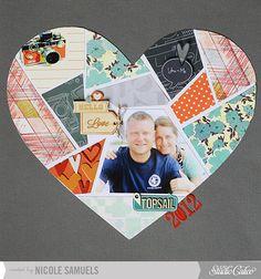 Nicole Samuels for Studio Calico - Darling Dear, großes Herz aus PP-Zuschnitten und Foto