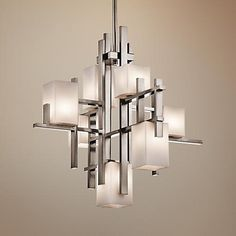 "Kichler City Lights Steel 23.5"" Wide Chandelier - #1C134 | www.lampsplus.com"