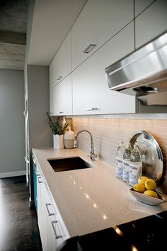 Very sleek and modern - small kitchen, but efficient