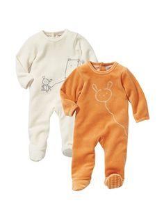 Baby Pack of 2 sleepsuits vertbaudet enfant