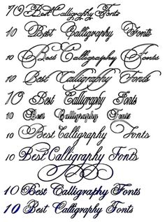 10 Best Calligraphy Fonts Collection