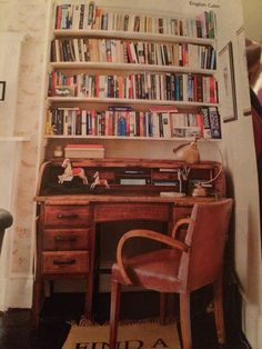 Love this alcove desk and shelving