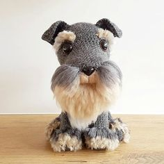 These Mini Schnauzer Crochet Pattern Ideas are so sweet and realistic looking! A great amigurumi project and yarn 'fur' making technique is included. Watch the video now.
