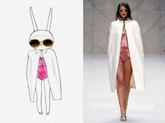 """""""Today I'm wearing Burberry...and trying to hide my blushes. This outfit is a bit risque for the dentist! bunny kisses Fifi Lapin xxx"""""""