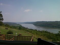 View from The Overlook Restaurant in Leavenworth, Indiana--nice place to stop for breakfast on the deck over looking the Ohio River.