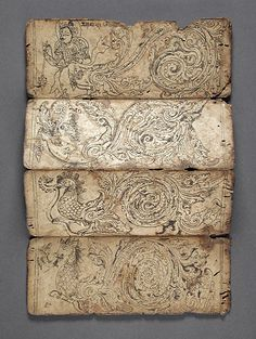 beverleyshiller: colornotes: princessedesours: artpropelled: nearlya: cinoh: reclusive-genius: rhea137:reblololo:eyeballmansion:crashinglybeautiful:yama-bato:Book of Iconography Nepal, Himalayas 1575-1600