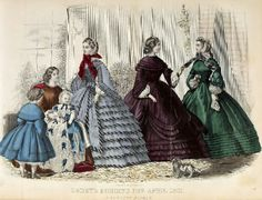 Godey's Fashion for April 1861.