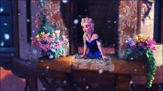 Elsa in the world of Tangled, awesome! I mean cool! Haha frozen pun!