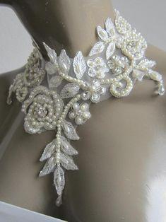 2 M Gold Vintage Pearl con Perline Taglia NASTRO IN PIZZO artigianato Abito da sposa da sposa Panno