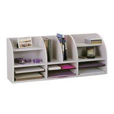 Wood Desktop Organizer 12 Adjustable Compartments