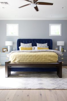 Best Royal Blue Grey And Black Living Room For The Home 400 x 300