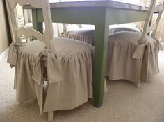 Sweet Cottage Dreams: Flirty and Skirty Slipcovers & Tutorial