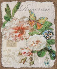 Rose Jardin-jp23938 Print By Jean Plout