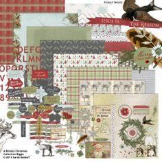 A Blissful Christmas Collection Biggie digital scrapbooking kit, by Sarah Batdorf: Scrap Girls