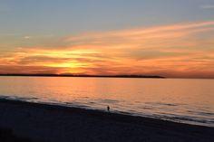 Solnedgang set fra Rørvig Strand <3
