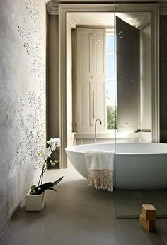 Gorgeous Bathroom...love the tub & the window  & Shutters & amazing views by andrew twort photography