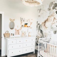 Blush Bouquet Mural | Anthropologie