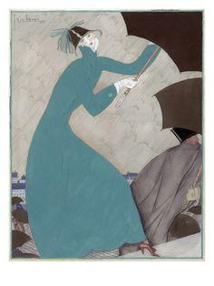 Vogue - October 1921 by Georges Lepape