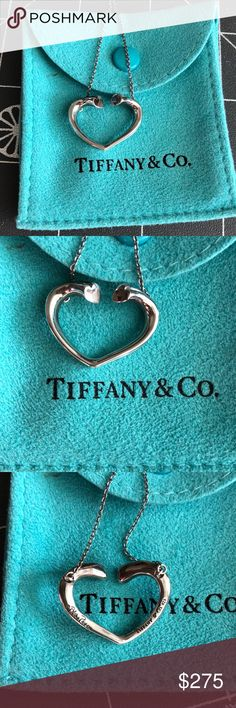 Tiffany Paloma Picasso open heart necklace Authentic Tiffany paloma picasso open heart necklace. 925 sterling silver. Scuffs and scratches from normal wear. Will need a good polishing. Tiffany & Co. Jewelry Necklaces