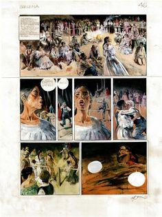 Planche BD Originale, galerie Napoléon  : SHELENA - Planche originale de SHELENA par René FOLLET. Page 46. - 46
