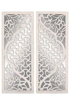 wood mirror wall decor set of 2 by home decor blowout on hautelook - Mirrored Wall Decor