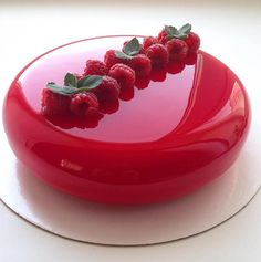 Fancy Mirror Cake by Olga Noskova wedding party glass red gorgeous amazing Frosting Recipes, Cake Recipes, Dessert Recipes, Icing Recipe, Creative Cake Decorating, Creative Cakes, Food Cakes, Cupcake Cakes, Beautiful Cakes
