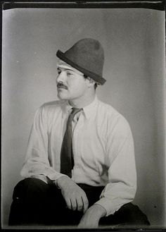 """Man Ray Ernest Hemingway, Paris 1923 """"The rich were dull and they drank too much or they played too much backgammon. They were dull and they were repetitious. He remembered poor Julian and his romantic awe of them and how he had started a story once that began, 'The very rich are different from you and me.' And how someone had said to Julian, 'Yes, they have more money.' Ernest Hemingway, """"The Snows of Kilimanjaro,"""" 1936"""