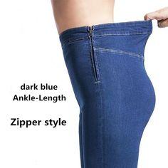 5a49e189d463e 2017 Autumn Plus Size Casual Women Jeans Pant Slim Stretch Cotton Denim  Trousers For Woman Blue