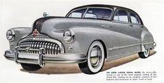 Buick Super Sedan Model 51 1948 | Mad Men Art | Vintage Ad Art Collection