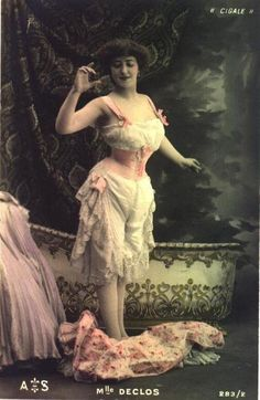 Edwardian ribbon corset, beautiful image.
