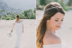 This Elegant Palm Springs Wedding Nailed Desert-Chic #refinery29  http://www.refinery29.com/100-layer-cake/20#slide2       Hair & Makeup: Melanee Beth Lindahl and Angelina Dawson