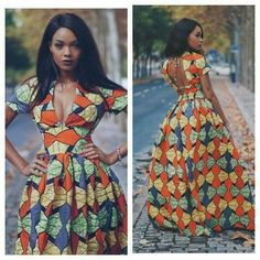 Tenue Wax, Robe Africaine Mariage, Robe Africaine Couture, Robe Africaine  Moderne, Mode