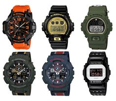 Casio G-Shock collection (August 2013)