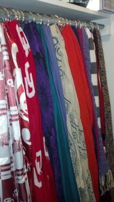 Scarves in closet