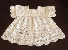 Looking for your next project? You're going to love Baby Shell Dress Crochet by designer SasusCreations.
