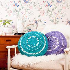 Organic Cotton Crochet COVER INCLUDING CUSHION by ekawear on Etsy, $68.00