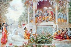 It's not like God has a job, God has to run the universe or something like that. Laksmi-Narayan in Vaikuntha Arte Krishna, Krishna Love, Krishna Hindu, Shiva Shakti, Pichwai Paintings, Lord Krishna Wallpapers, Spiritual Paintings, Lord Krishna Images, Hindu Deities