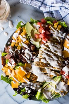 grilled chicken salad with candied bacon southwest grilled chicken ...