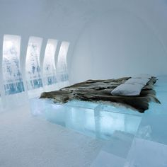 Room in the Ice Hotel in Sweden #nobigdeal