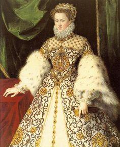 1570 Elisabeth of Austria by Georges van Straeten (Monasterio de las Descalzas Reales - Madrid Spain) FDxHalcón 28Sep08