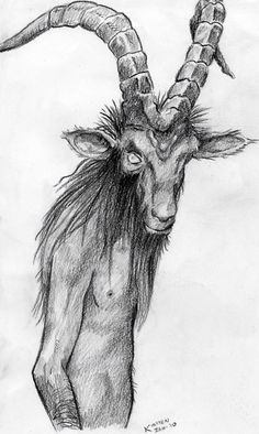 Bocanach- Celtic myth: a goblin-like creature with a goat head. They lurk on battlegrounds and they like wailing at night. They also haunt lonely country roads