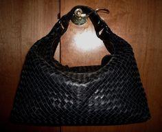 5fcd5726cd Black Woven Leather Sloane Bag Bottega Veneta