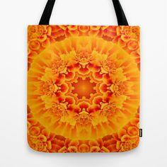Orange Marigold #Mandala #Tote Bag  - $22.00