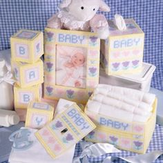 Make Nursery items for baby using plastic canvas