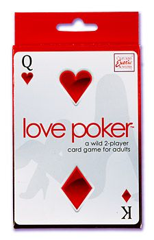 """So…you're pretty good at poker, right? Card game for couples opens doors to passion, rekindles romance, strips away inhibitions, and encourages great dialogue between lovers. For 2 adult players. Includes: 54 Love Poker cards, 52 Love cards, 2 poker hand ranking guide cards, 1 rule booklet with instructions 6""""x 3.5"""" x .75""""/15 cm x 9 cm x 2 cm"""