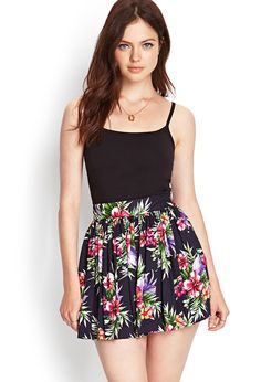 island Floral skirt - Via Casual Summer Dresses, Dresses For Teens, Summer Outfits, Look Fashion, Skirt Fashion, Fashion Outfits, Skirt Outfits, Cool Outfits, Casual Outfits