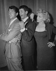 Dean, Jerry and Marilyn, 1955