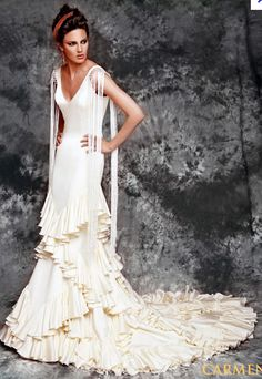 Gorgeous flamenco wedding dress