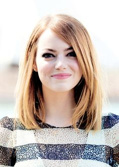 mid length hair...and Emma stone is so darn cute!