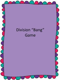 Looking for a fun and easy way to help your students practice their division facts? This game is a favorite of my students, and it helps them learn some of the basic division facts. I use this game as a math center in my classroom.